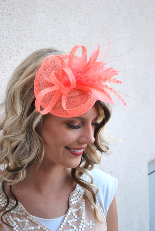 Coral Fascinator Archives - Julia.Bee 07f75bf8703
