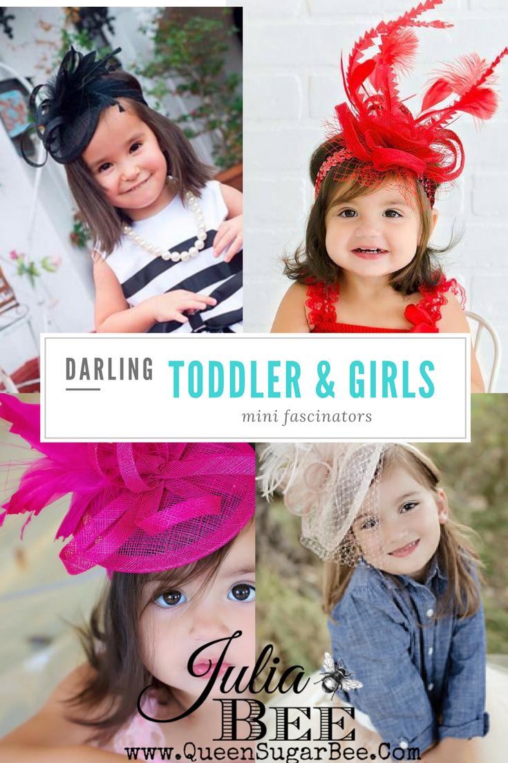 ec789926d Baby, Toddler and Girl's Fascinators & Derby Hats! - Julia.Bee